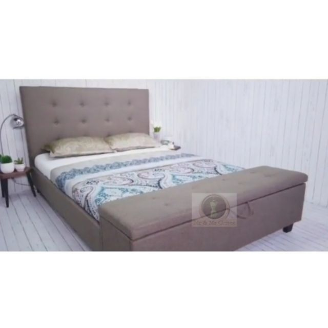 Cod Queen Sized Bed Frame With Storage Shopee Philippines