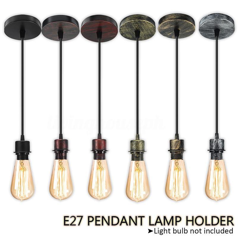 E27 Ceiling Pendant Lamp Holder Socket