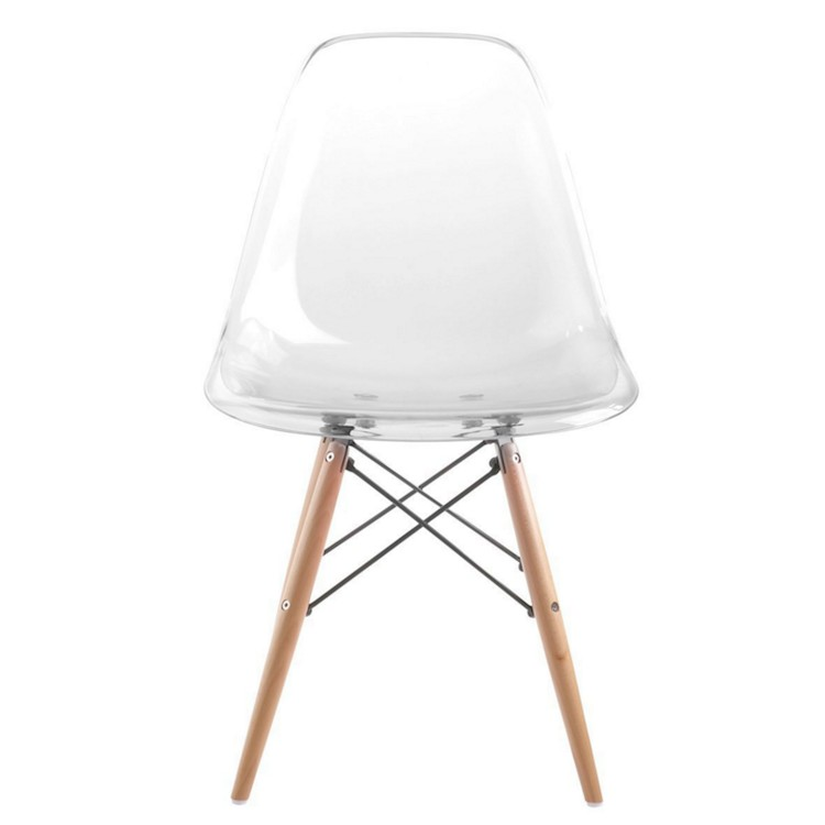 Eames Inspired Modern Clear Transparent Ghost Chair