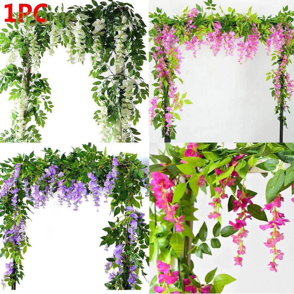 77 Meter Artificial Ivy Vine Leaf Silk Ribbon Fake Foliage Flowers Decor 1 PC