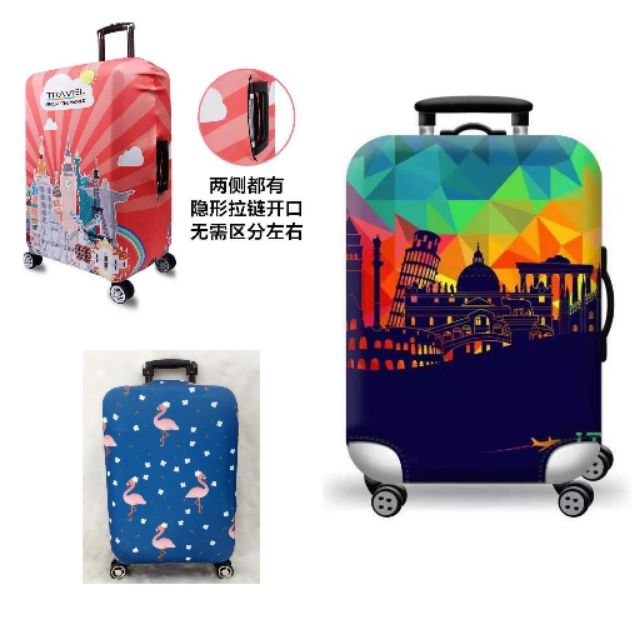 7040ca215733 XL size travel suitcase luggage cover waterproof elastic