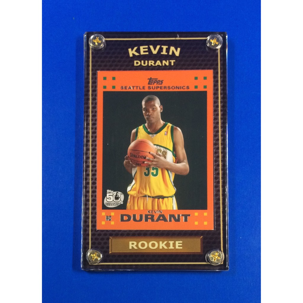 Hot Kevin Durant 2007 08 Rookie Topps Orange Nba Card