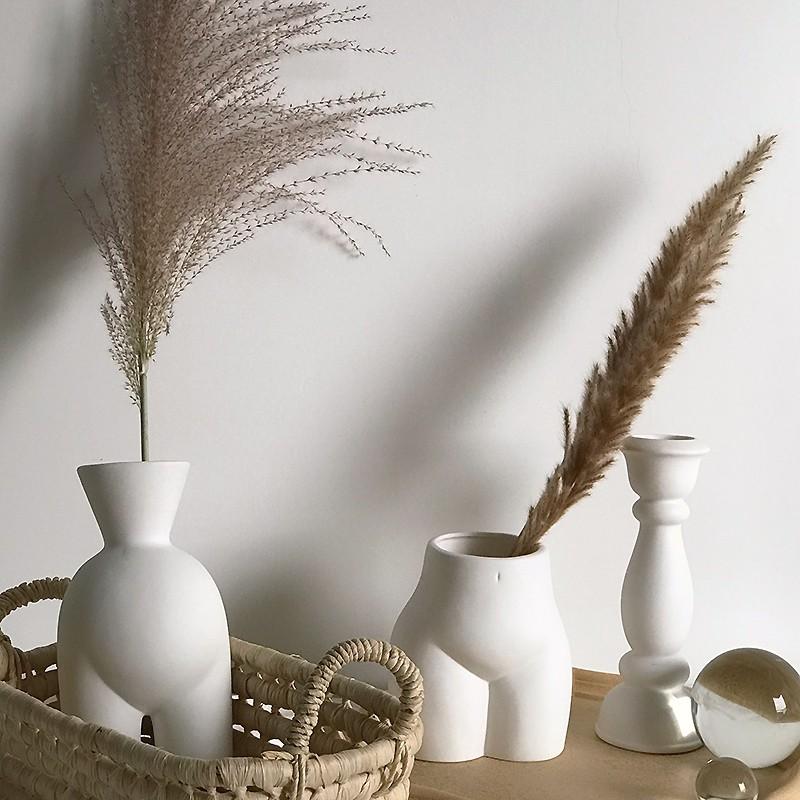 Click Abstract Body Art Plug Vase Ceramic Ornaments Laminated Decoration Shopee Philippines
