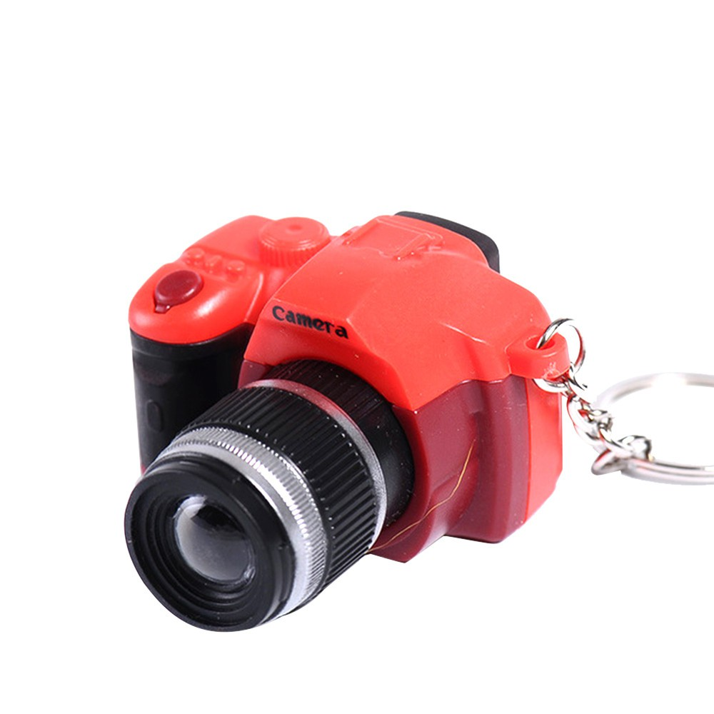 Cute Mini Toy Camera Style Charm Keychain With Flash Light /& Sound Effect Gifts