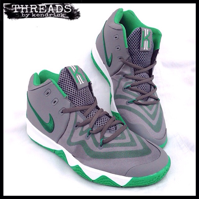 97859d9aed7 NIKE Kyrie 5  2018  Mid-Cut Basketball Shoes (Gray-Green)