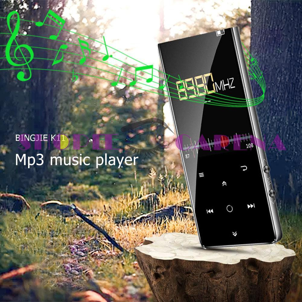 🙌SCS🙌Benjie K11 Touch Screen IPX4 Waterproof HIFI MP3 Music Player 8GB FM  Radio