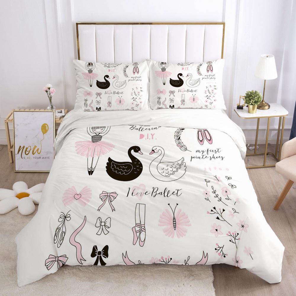 Girls Princess Cartoon Bedding Set For Baby Kids Children Crib Duvet Cover Set Pillowcase Blanket Shopee Philippines