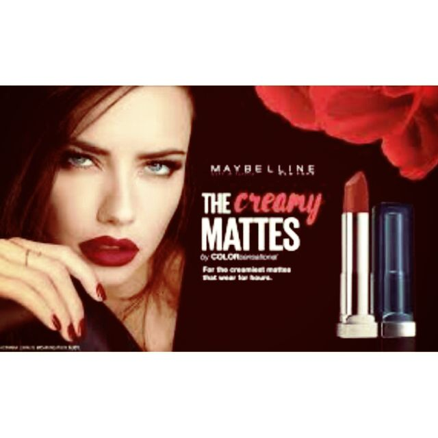 Sensational Ruby Maybelline Matte Color Lipstick Rich