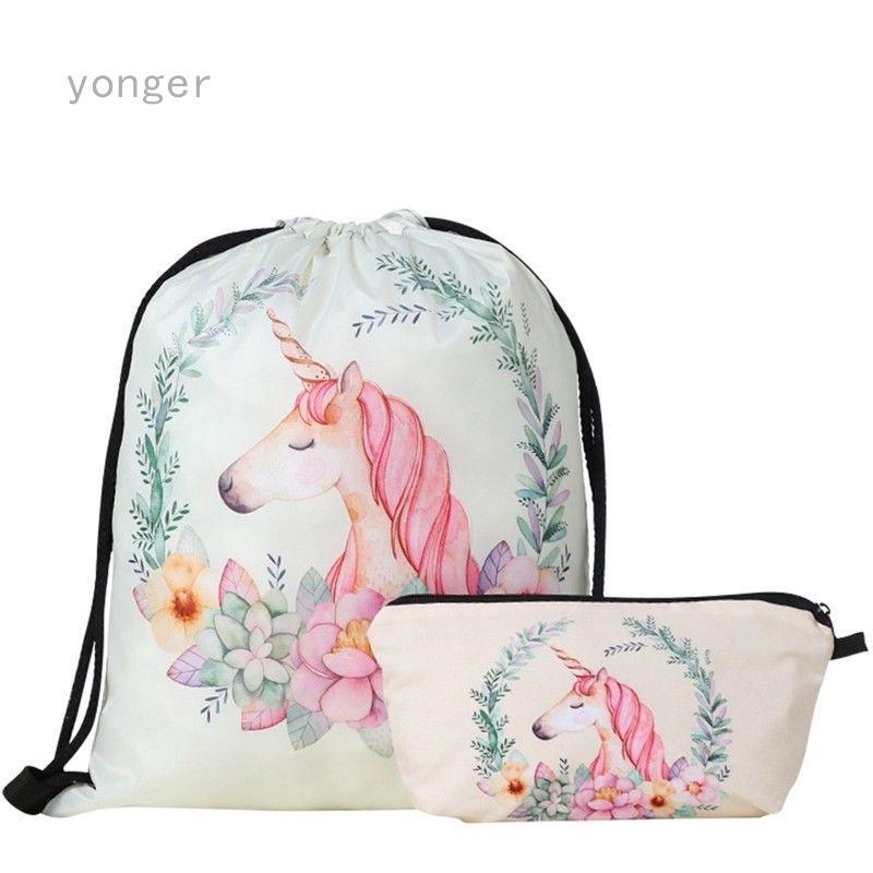 0d85048efd8f PASTEL BITCH 3D printing backpack travel drawstring bag | Shopee ...