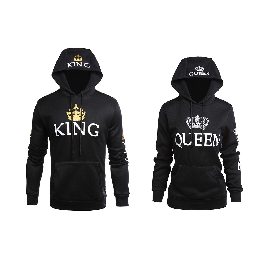 3000a917ec King Queen Couple Long Sleeve Hoodie Lover Jacket(NOT 2PCS)   Shopee  Philippines