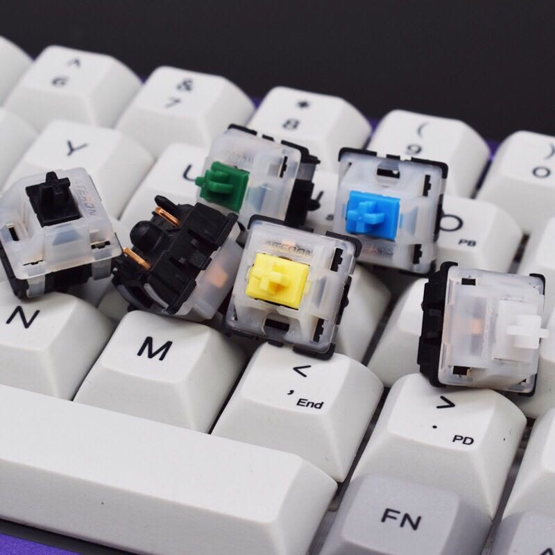 Gateron Switch Milky Top Black Bottom Yellow Switches For Mechanical Keyboard Shopee Philippines
