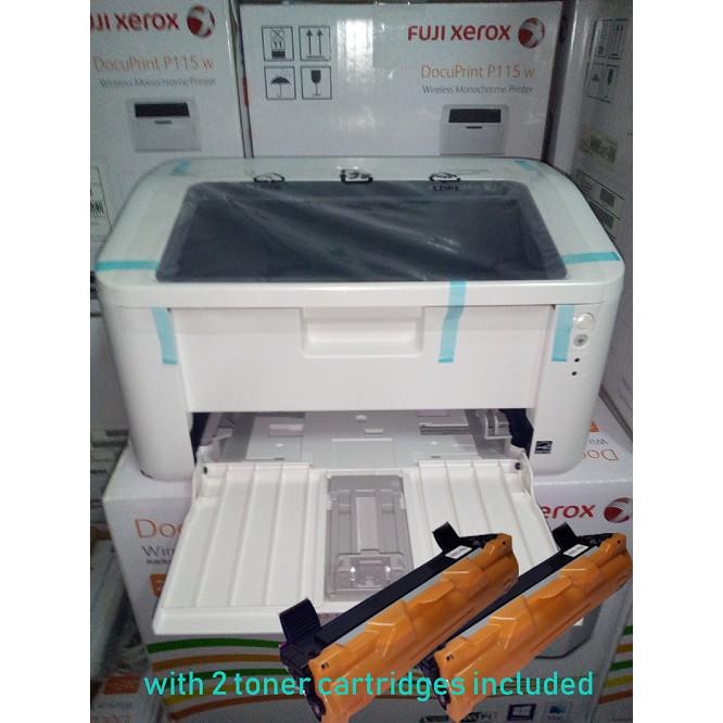Fuji Xerox Docuprint P115w Laser Printer with 2 toners