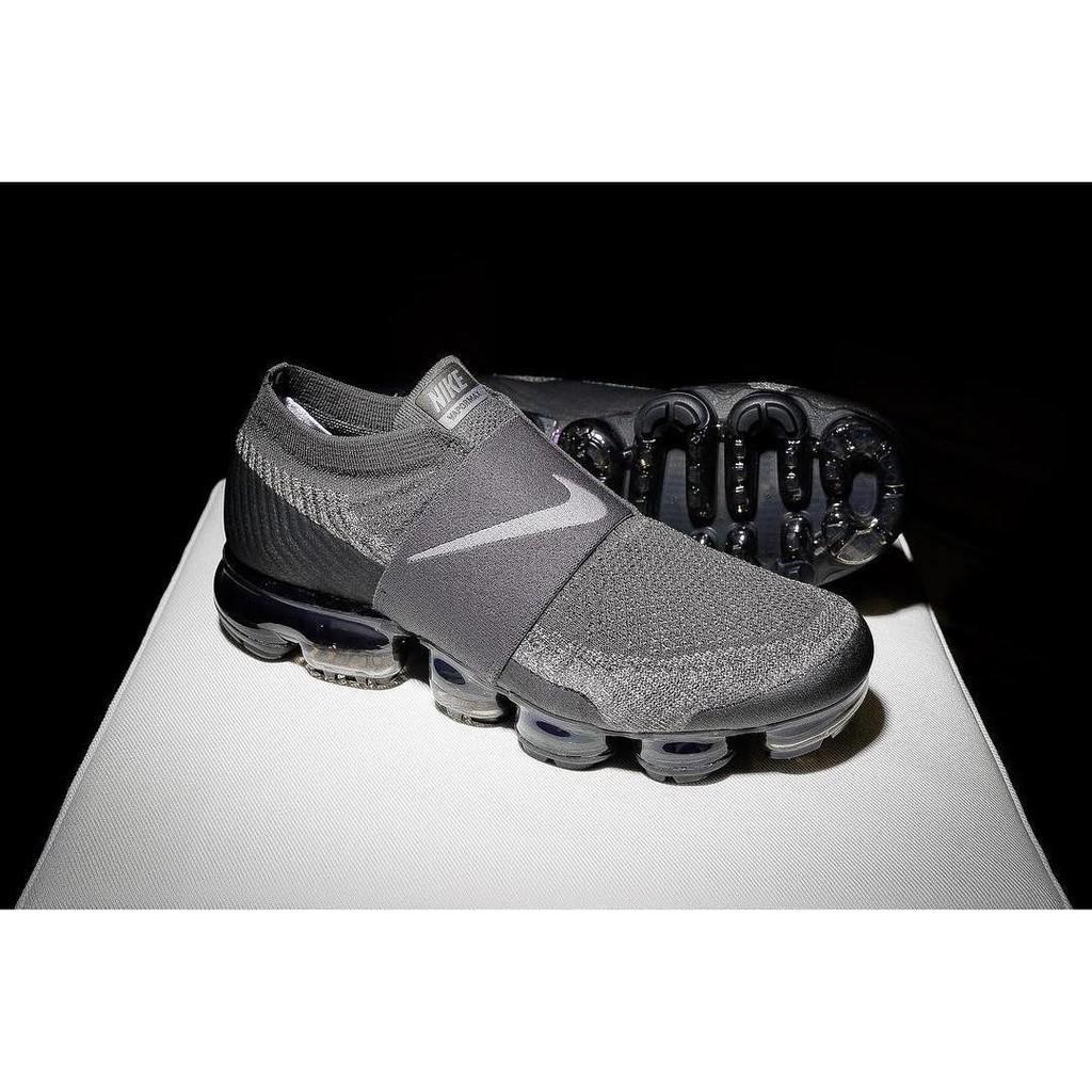 89f5863b0e Mens Nike Air VaporMax LACELESS Black Night Black Grey | Shopee Philippines