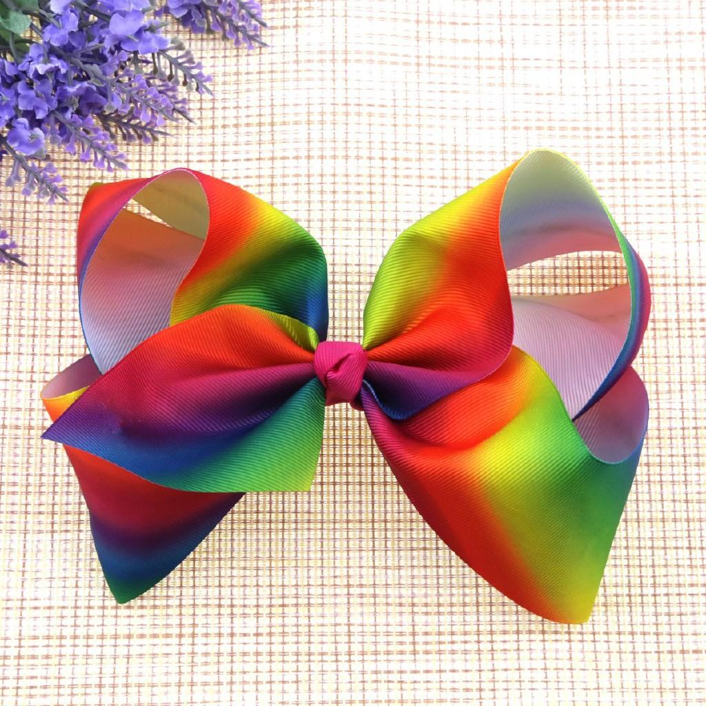 Hair Bow rainbow Dance Moms girls hair clip kids accessories