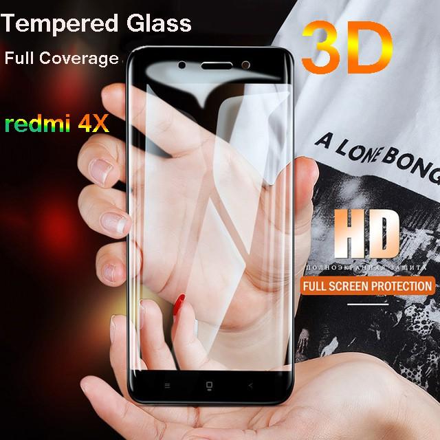 For Xiaomi Redmi 4X Tempered Glass Full Cover Screen Protector Film 4x Glass