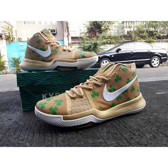 64fb33e79fb Nike Kyrie 3 Luck Celtics PE Basketball Shoes