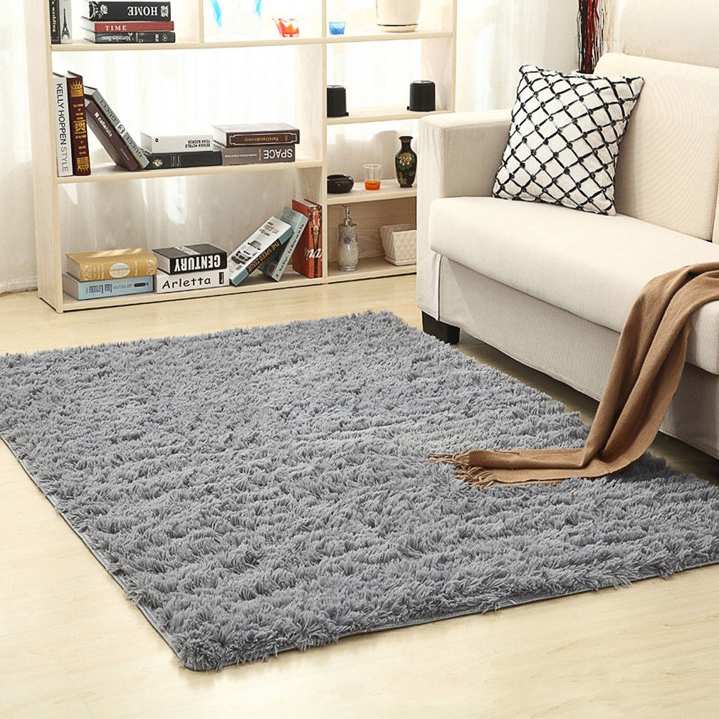 Long Velvet Living Room Rugs Table Sofa Bed Carpet Floor Mat