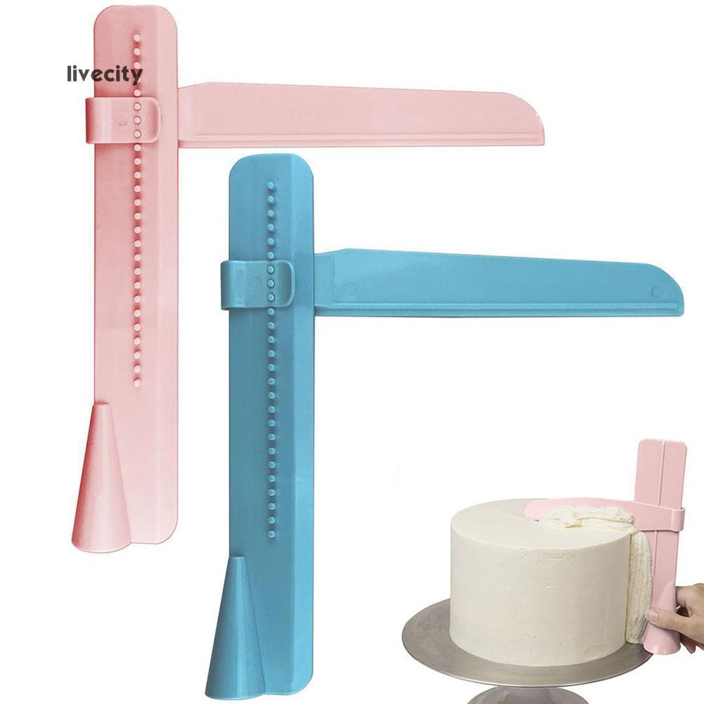 Home Adjustable Fondant Cake Scraper Icing Piping Spatula Edges Smoother Tool