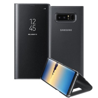 sale retailer 332f2 e4e18 Samsung Note 8 Clear View Mirror Flip Case with Stand | Shopee ...