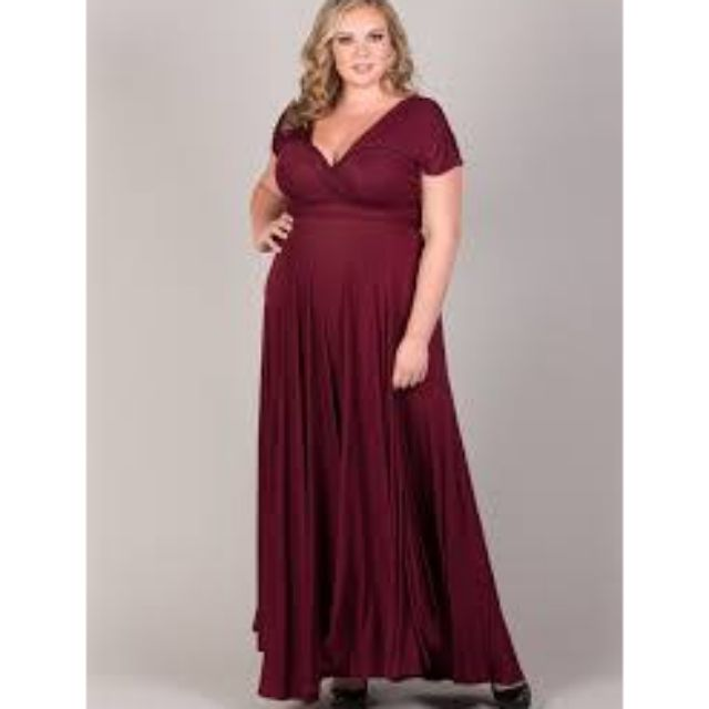 Plus size infinity dress floorlength with tube