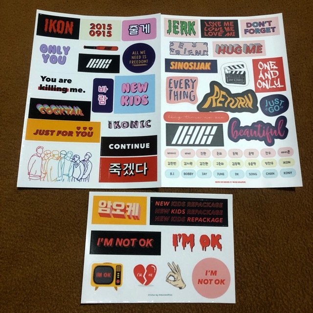 iKON Stickers (ON HAND)