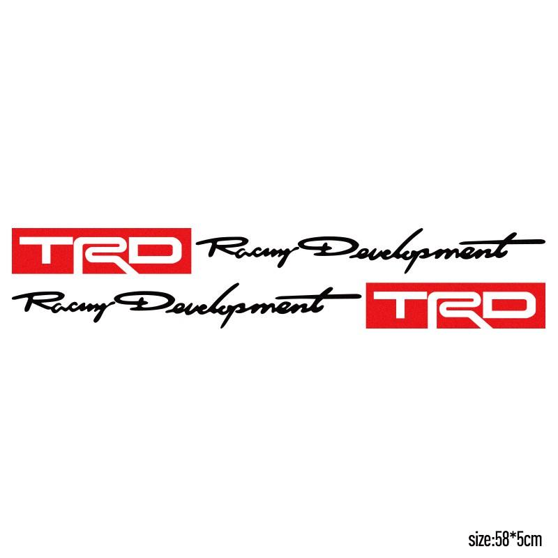 2pcs trd car toyota racing development sticker decals shopee rh shopee ph toyota trd racing logo TRD Racing Development