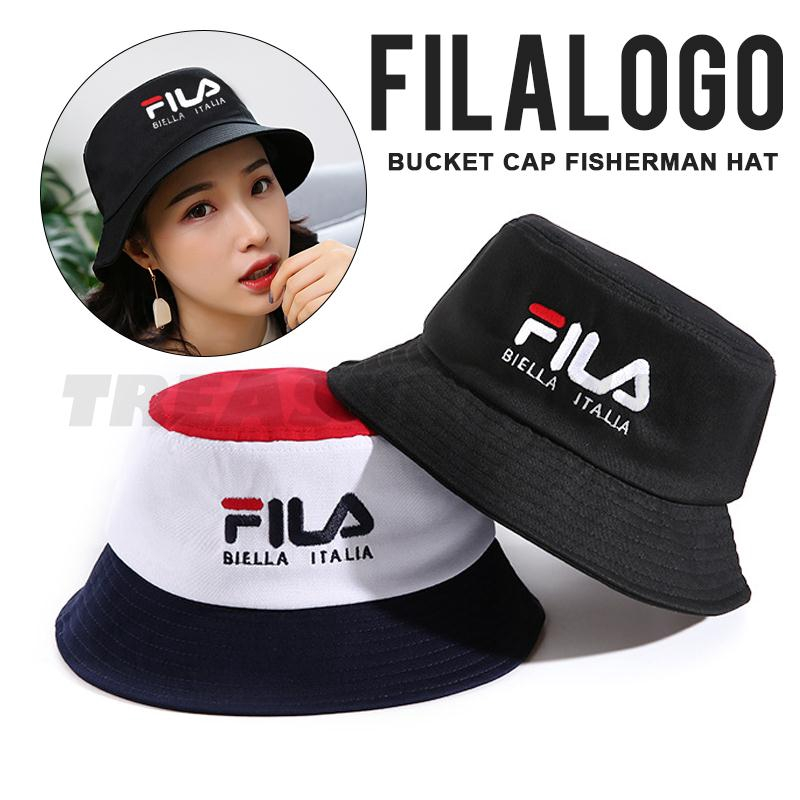 88efb8b53bb84b New Bucket Hat Fila Men Women Outdoors Sports Fshing Sun Hat | Shopee  Philippines