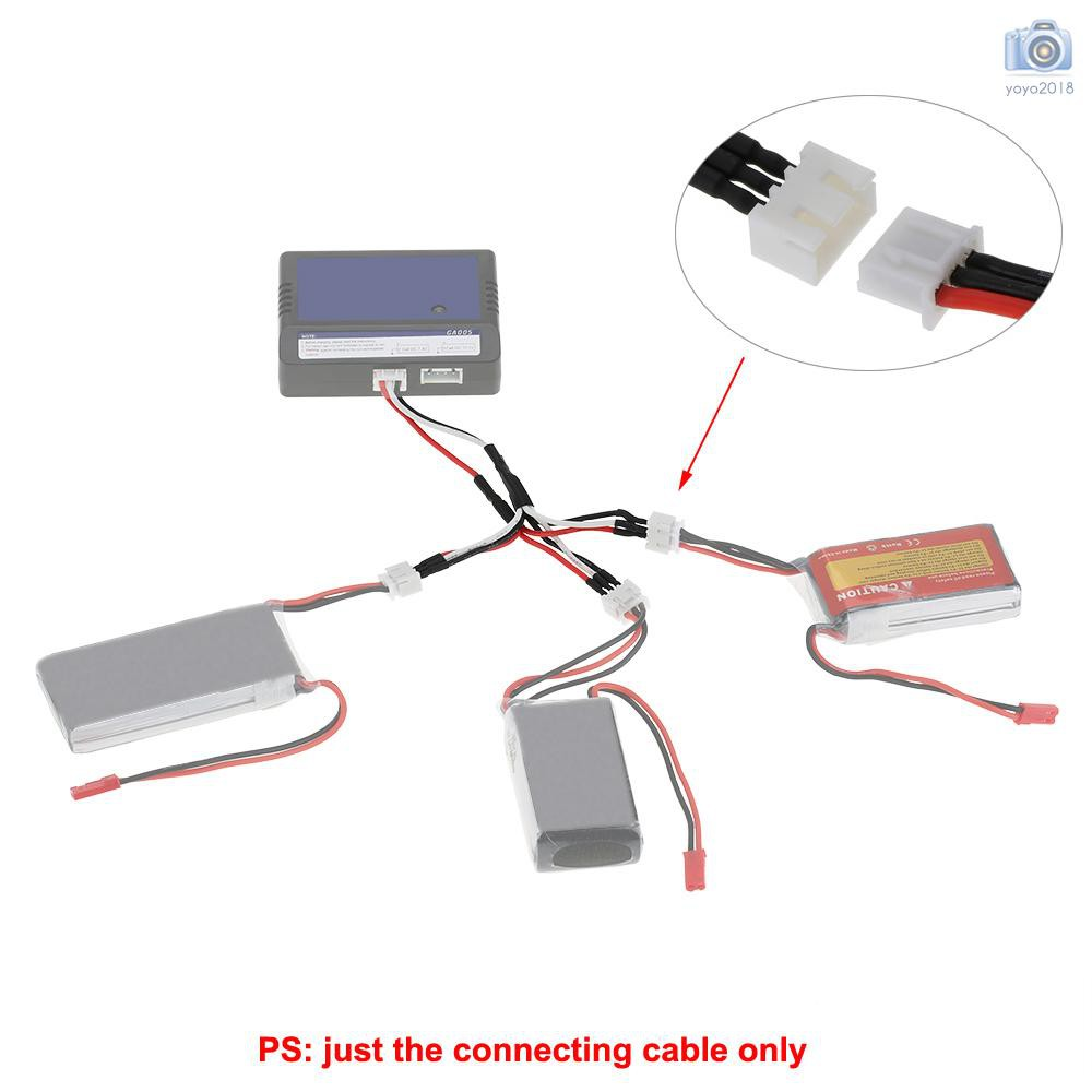 3 in 1 Battery Charging Connecting 7.4V 2S Cable for JJRC H16 X6 WLtoys V Wiring Diagram on