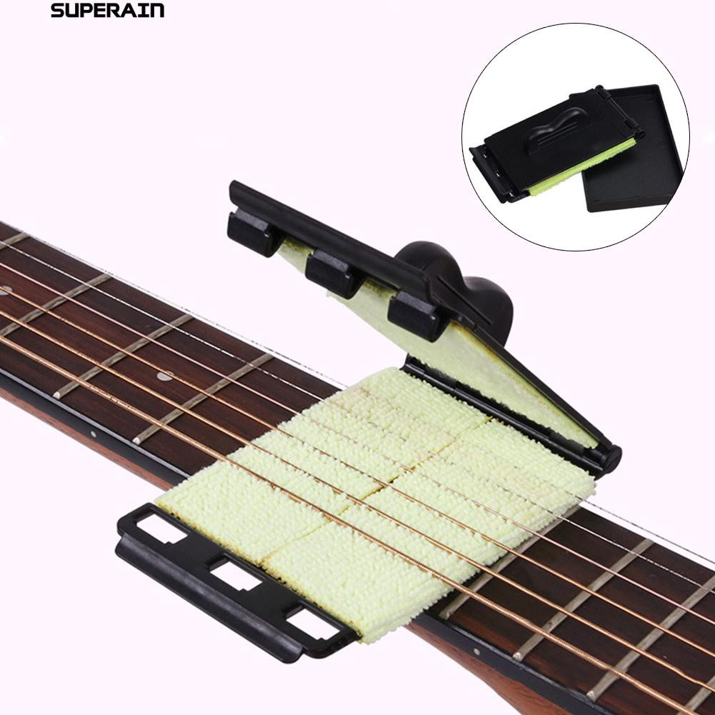 1pc Guitar Strings Fingerboard Scrubber Rub Cleaning Maintenance Care Cleaner Bass Care Cleaner Bass Guitar Accessories Online Discount Stringed Instruments Musical Instruments