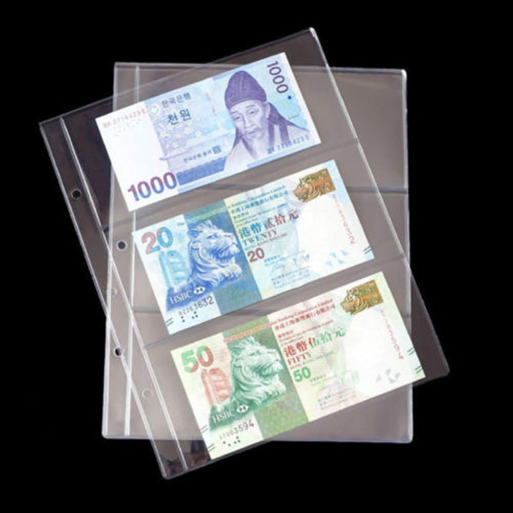 Albums & Folders Nice 100x Paper Money Album Currency Banknote Case Storage Collection Box Holder 2019 Sale Price