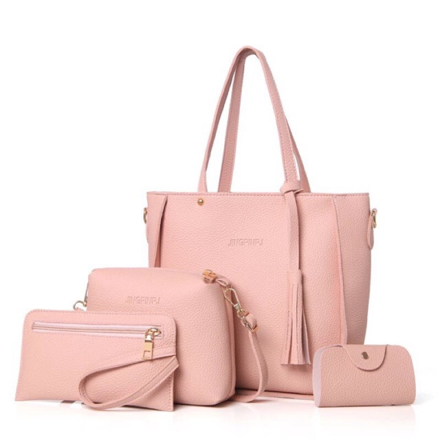 b813b92f49 4 in 1 Bag Korean Casual Leather Sling Bag