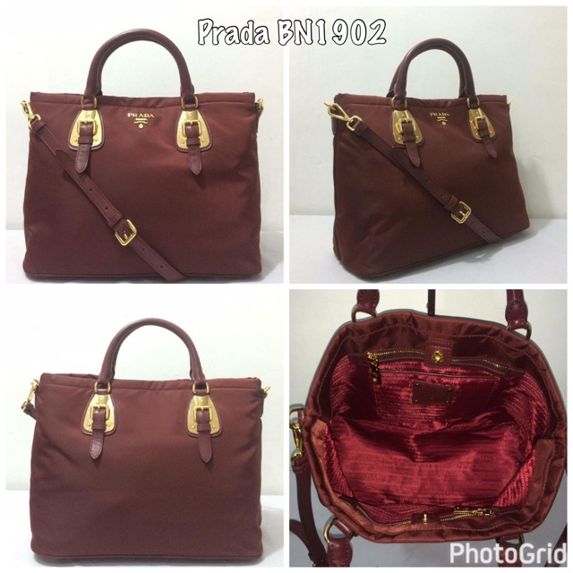 93504a6a727e93 Prada BN1902 Soft Calf Leather Bag | Shopee Philippines