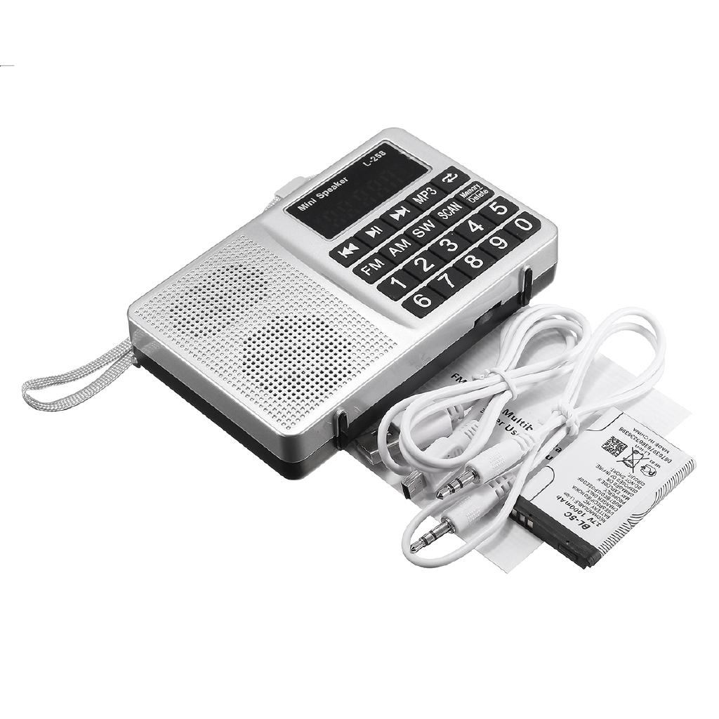 bluetooth Portable LCD FM//AM Radio Stereo Speaker MP3 Music Player Micro SD USB