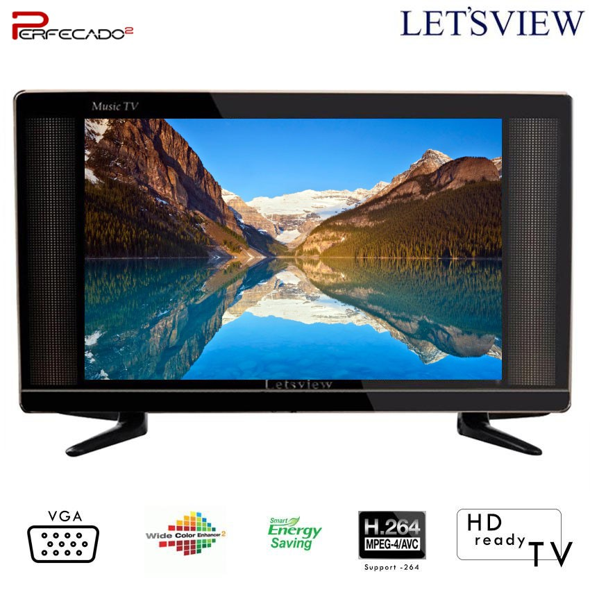 "Letsview 26"" LED TV Black"