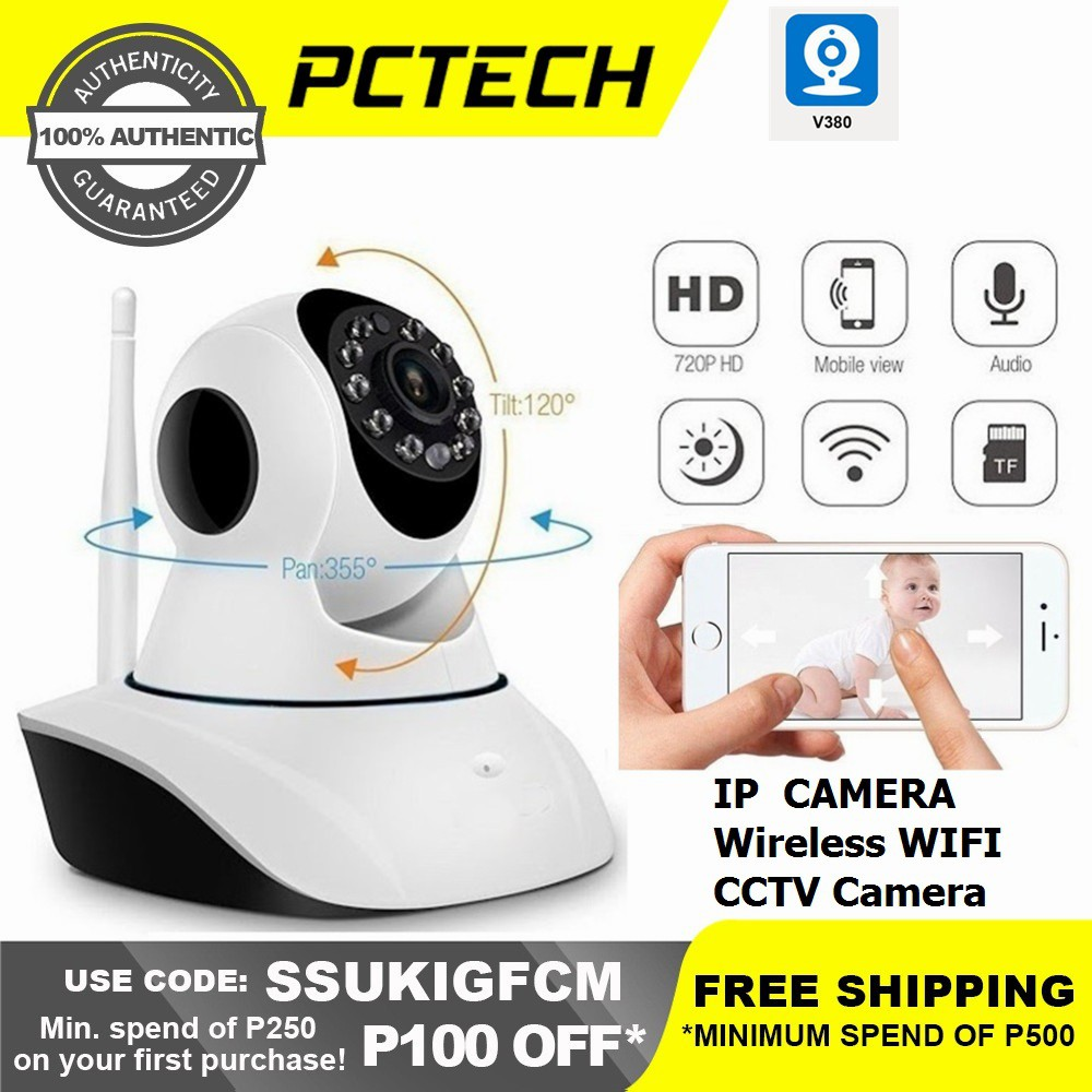 Popcorn V380 IP CAM Wireless WIFI Network Security HD Remote Monitor 720P  Home Security CCTV Camera