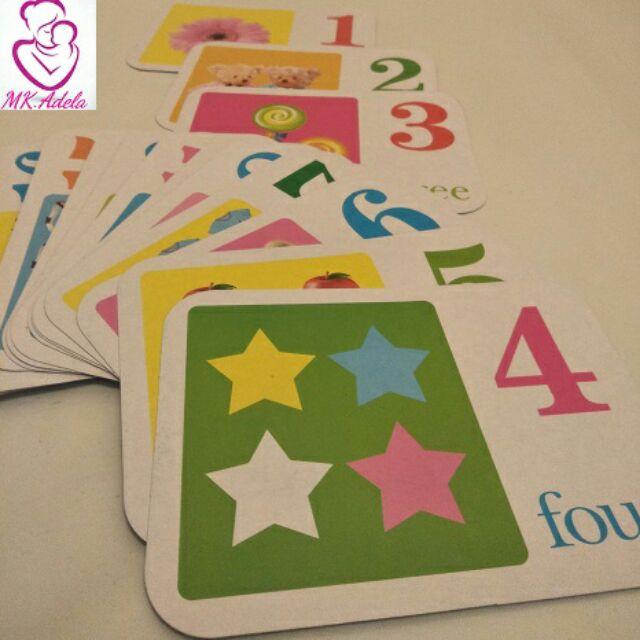 Number Flash Cards  28 Pcs