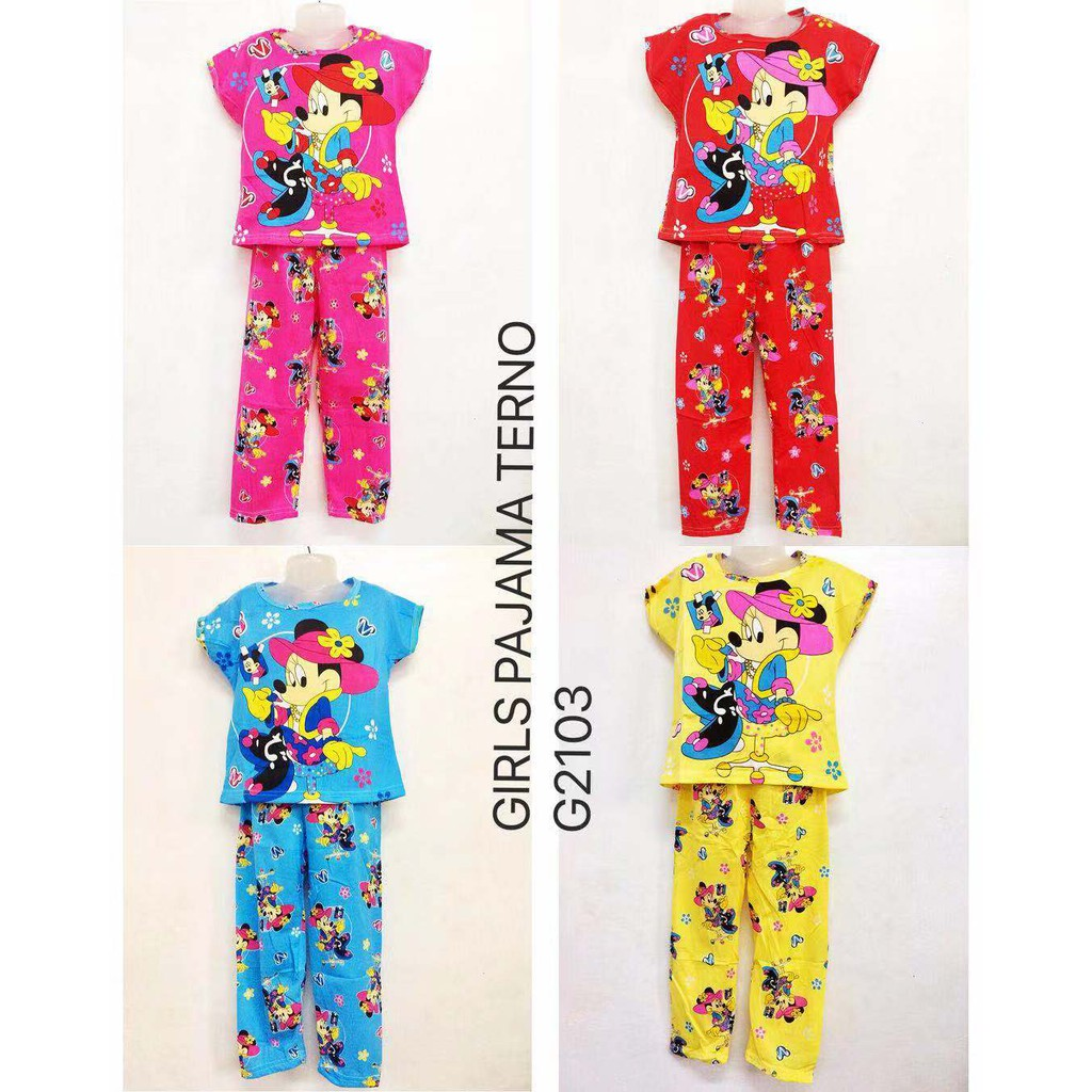 XUEBAMI Giris Sleepwear Pajama Set for Kids (Mickey Mouse)