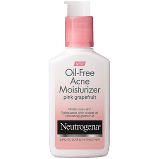 Neutrogena Oil-Free Acne Moisturizer, Pink Grapefruit 4 oz.