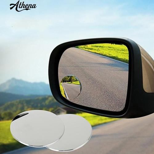 2x Universal Car Wide Angle Convex Rear Side View Blind Spot Mirror Small Round