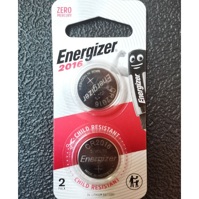 Original Energizer CR2016 Lithium coin batteries 2pcs pack / Maxell 1pc / Toshiba 1pc
