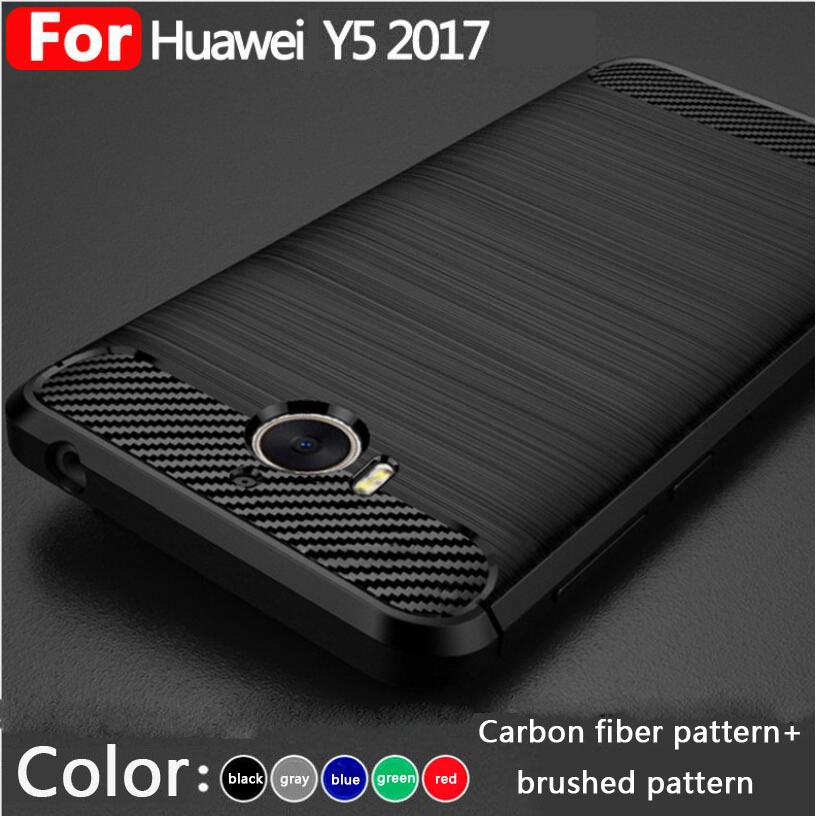 HUAWEI Y5 Pro case carbon fiber & brushed pattern Hard cover