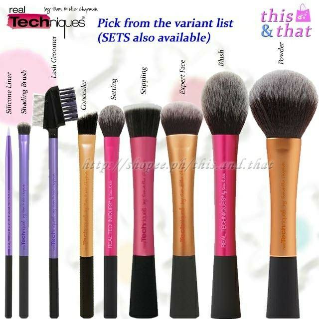 Authentic Real Techniques Mini Expert Face Brush Travel Shopee