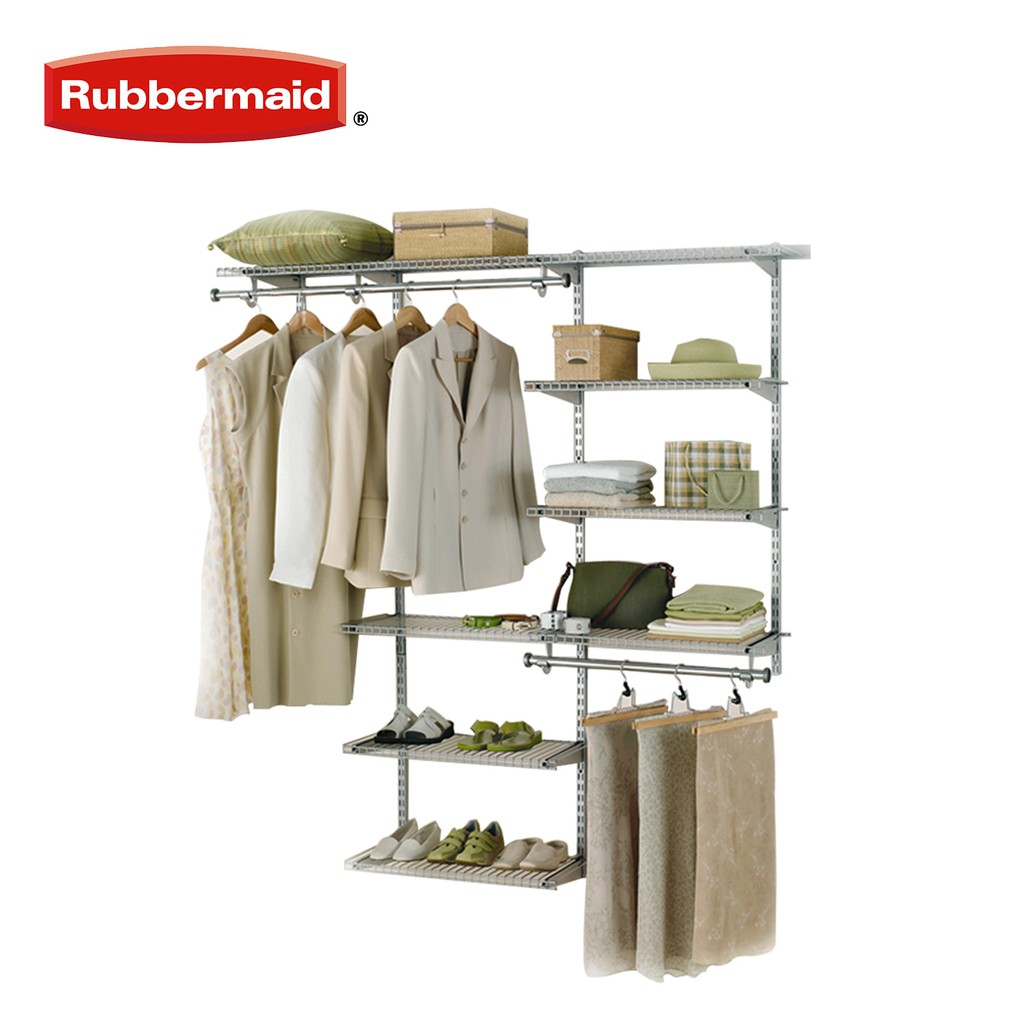 Picture of: Rubbermaid Configurations Deluxe Custom Closet Kit 3 6 Ft Shopee Philippines
