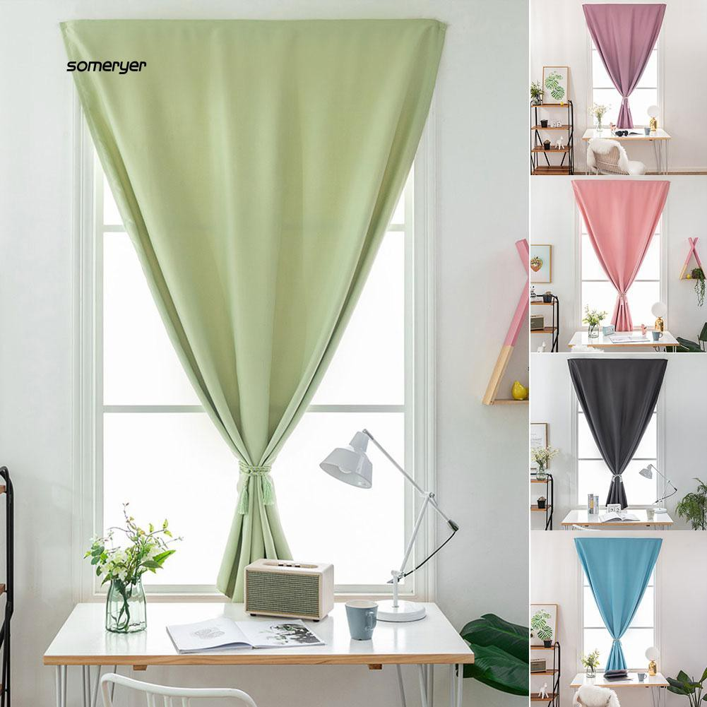 Some Stick On Curtain Bedroom Living Room Blockout Drape Blind Home Window Decor Shopee Philippines