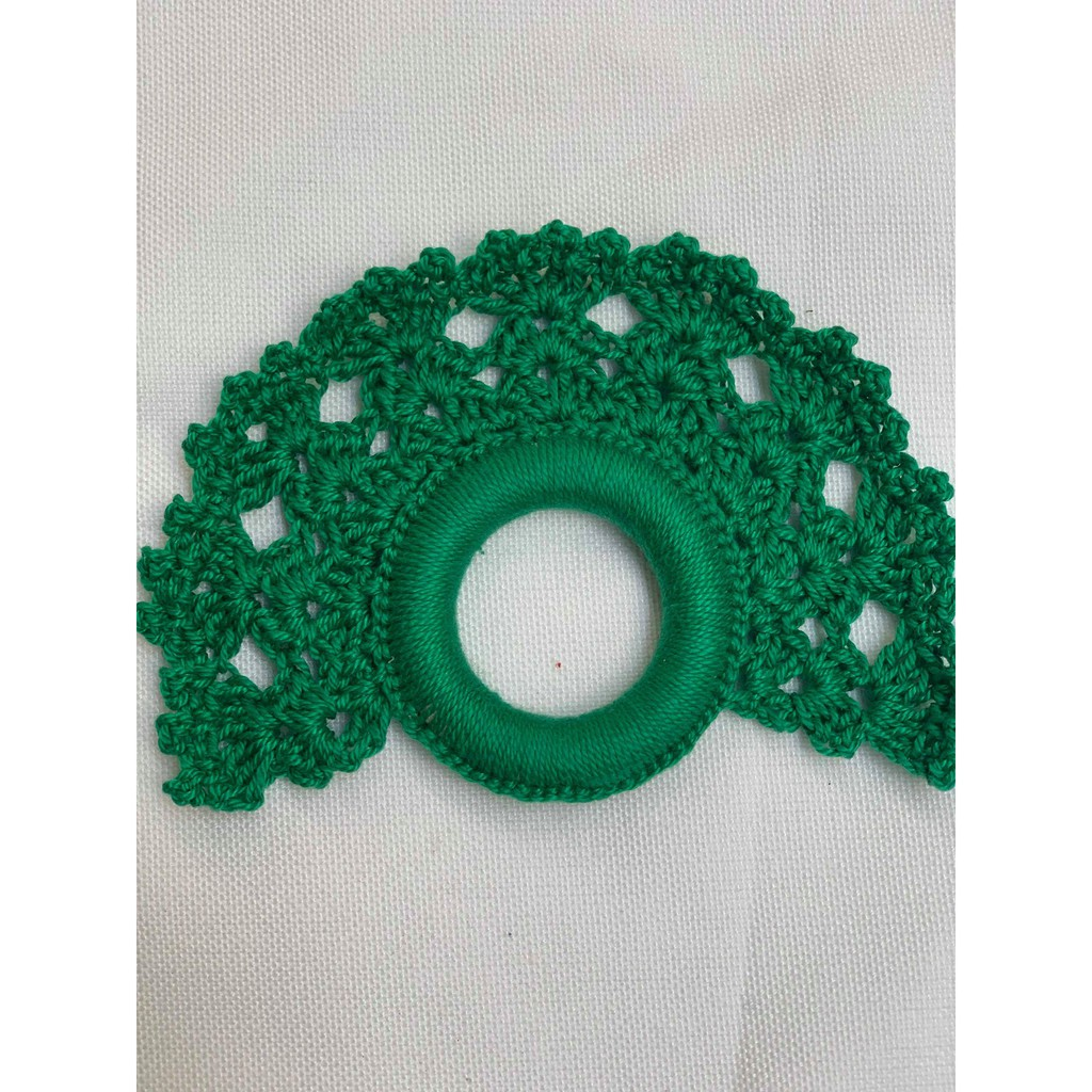Green Crocheted Napkin Ring Set Of 6pcs Shopee Philippines