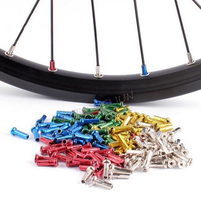 72Pcs Bike Wheel Spoke Nipples 14mm Bike Spokes Nipples For Bicycle Wheel-WFIT