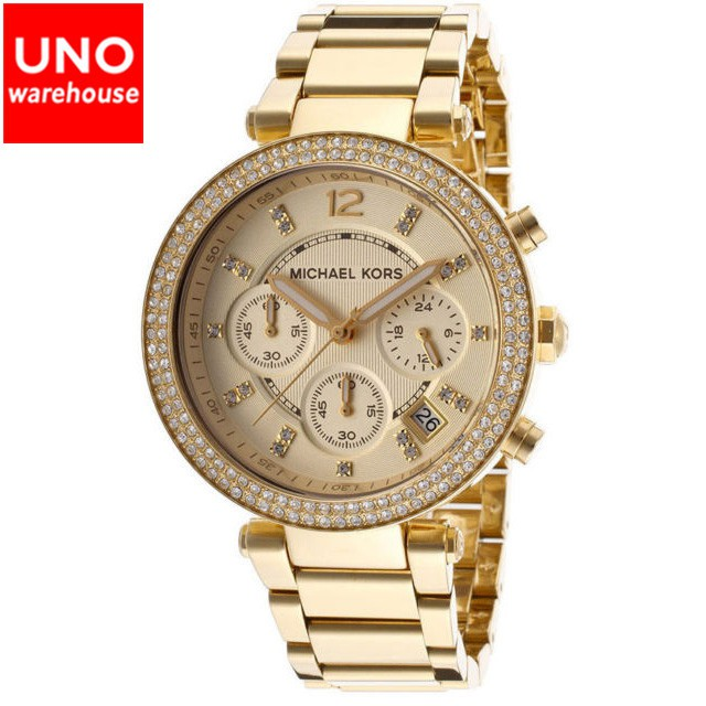1281238c25891 Michael Kors Kiley Crystal Pave Gold-tone Ladies Watch - MK6146 ...
