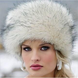 75703c4bb6c Warm Round Snow Cap Faux Fox Fur Beanie Cap Women Winter R