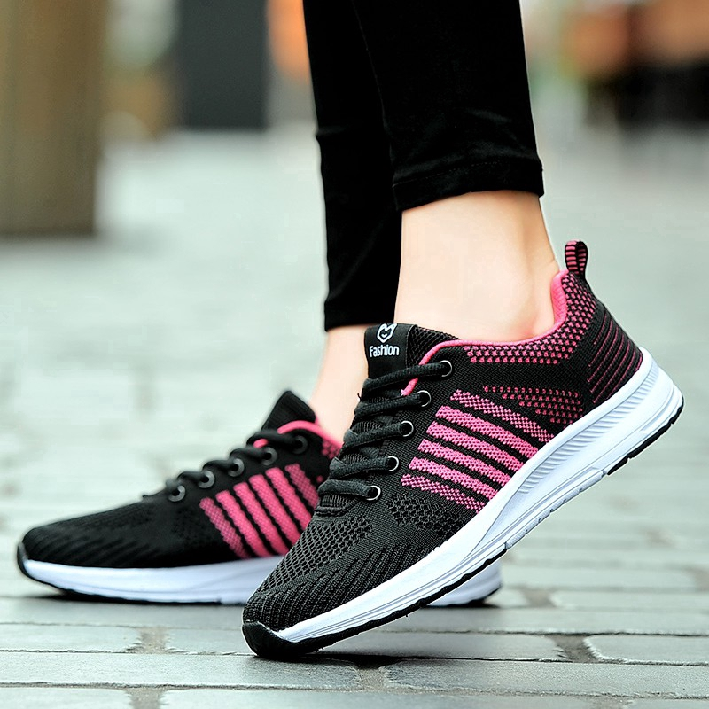 Women Fashion Sneakers Lace Up Ladies Sneakers Women Shoes   Shopee  Philippines