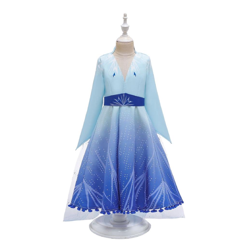 Kids Girl Cartoon Frozen Adventure Elsa Anna Princess Fancy Dress Costume Outfit